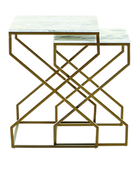 Horchow Side table Gold and marble trans copy