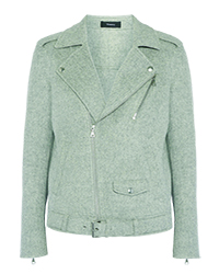 THEORY Tralsmin double-faced wool and cashmere-blend biker jacket copy copy